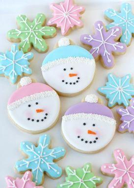 Christmas snowman cookies